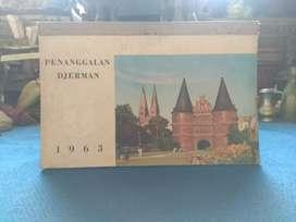 Kalender 2 mingguan double postcard Jerman th 1963
