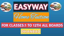Class 1 to 12th all board home tuition,Dhanbad