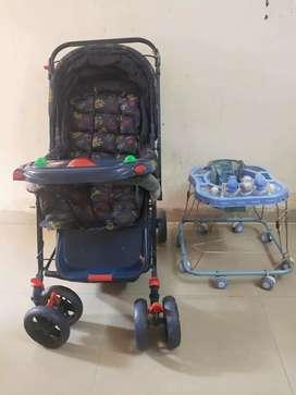 Baby walker and stroller (baba Gadi )