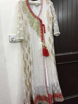 Anrakha style frock in white