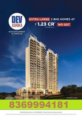 2 bhk flat for sale in Thane West near Nitin Company in 1.23 CR