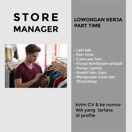 Part Time Store Manager