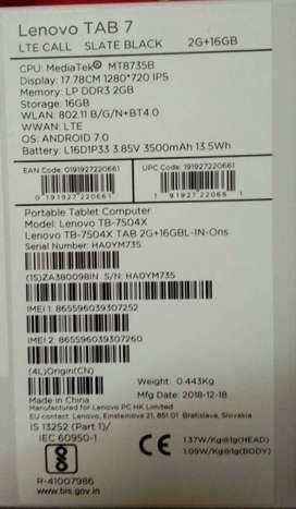 Lenovo tablet 7504x