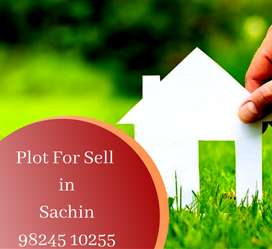 Industrial plot for  sell in sachin 317 var in sachin