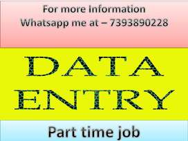 Home based part time job of data entry & ad posting available.join now