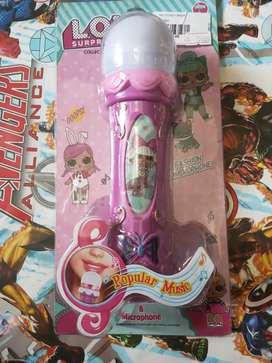 Mainan anak lol mikrophon bisa nyala yah