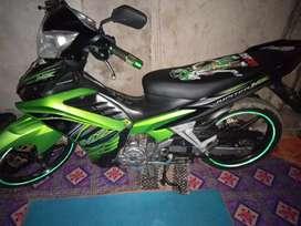 Di jual motor Jupiter MX 135 hijau 2012