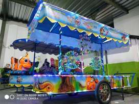 Komedi panggung kereta pancingan ikan elektrik ek odong2 fiber