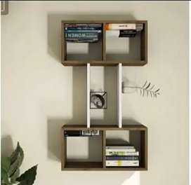 Wall books shelf and decor