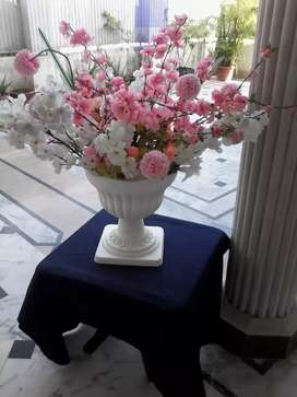 Vase with pretty flowers