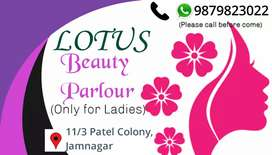 Lotus beauty parlour at reasonable rates