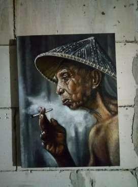 Lukisan oil on canvas