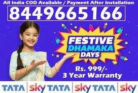 New DTH @999 COD- Tata Sky Dish Airtel Videocon Tatasky D2H DishTV
