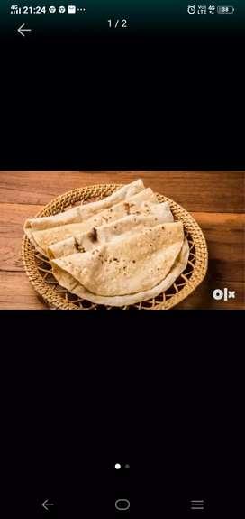 Chapati paratha spcl and spl bhaji biryani but only veg