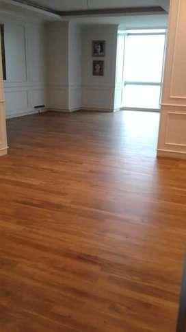 Flooring jati per m2 sdh termkasuk pasang