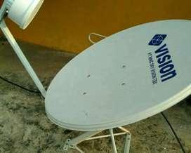 Pasang Indovision Mnc Vision tv parabola mini hemat bergaransi