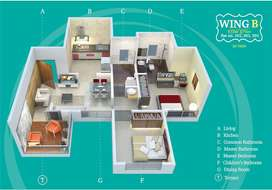 1065 Sqft 61 Lakh(all inclusive) 2BHK, In Thergaon- wakad