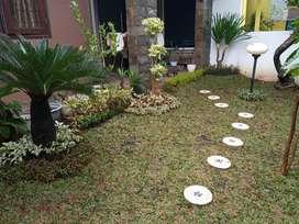 Jasa pembuatan dekorasi taman rumput taman tanaman hias
