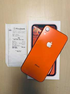 iPhone xr ( coral) color with full box