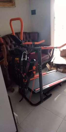 Enam manfaat dalam 1 alat/Manual Treadmill orange black