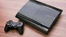 Playstation 3 super slim 12 gb neat condion rarely used