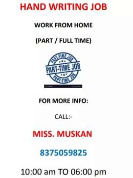 Work from home, weekly payment, handwriting note making work from home