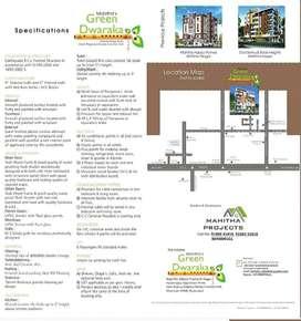 @Unfurnished 3BHK% 1650sqft Apartment/ at Mahitha's Green Dwaraka
