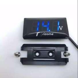 HS Voltmeter / volt meter alat ukur tegangan aki lampu led biru merah