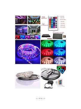 Decor Your PC, LED , Homes, Offices, Apartment with RGB strip Light 5M