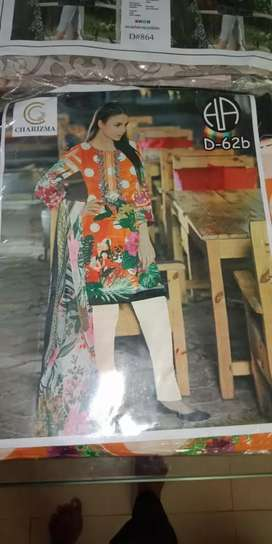 Lawn collection with chiffon Dupatta