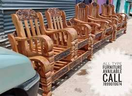 Wooden sofa set 3+1+1 good quality best price all furniture available