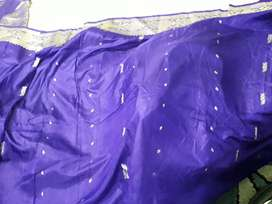 Banarsi silk sari with heavy Jacquard border