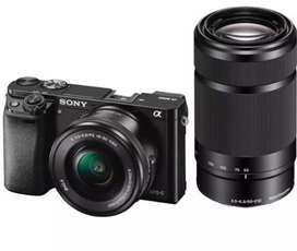 Sony alpha 6000 with 2 lens 2 year warranty