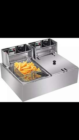 Imported Commercial dual 12L Deep Fryer