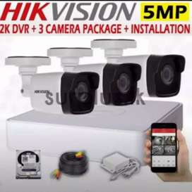 paket cctv online out dor stealth 2 pis 2.0 mp + ps 10.a +Hdd 500 gb