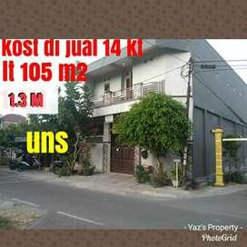 Rumah 2 lantai untuk kos 105m 1.3M