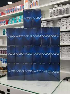 Vivo V20 new box pack 1 year official warranty discount offer