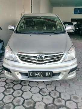 Toyota Innova G bensin MT 2010 km 60rbuan silver istimewa ful orisinil