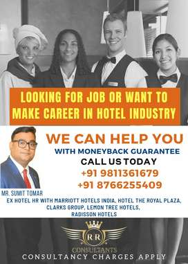 Looking for Job or Career In Hotel Industry | We can help You
