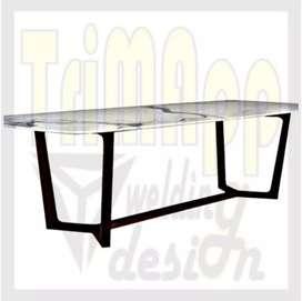 Rangka meja makan/meeting 150cm
