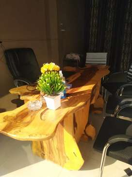 Solid wood office table