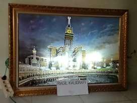 Mekah Kaligrafi lampu uk 105 x 75 cm