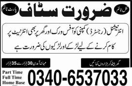 Female and male staff required for international registered company