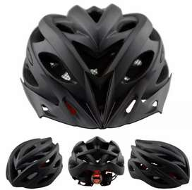TaffSPORT Helm Sepeda EPS PVC Shell Dengan Lampu Blacklight
