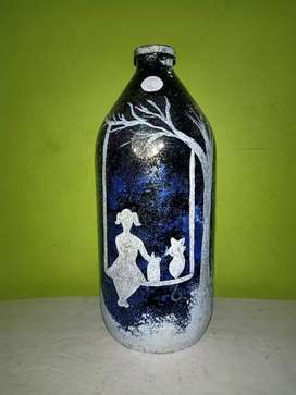 Glass bottle painting