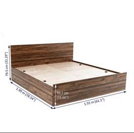 Wood Bed with Storage (78*60 inch) / (1.98m*1.52m)
