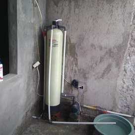 Filter penyaring air bau warna lumpur tanah lumut