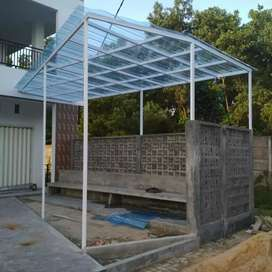 Kanopi atap spandek transparan
