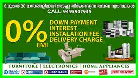 Furniture & Electronics at 0% EMI in PALKULANGARA with Free Delivery