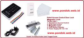 Paket Pintu Digital RFID Access Control - Door Lock EM 280Kg 600Lbs